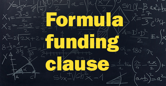 words - formula funding clause