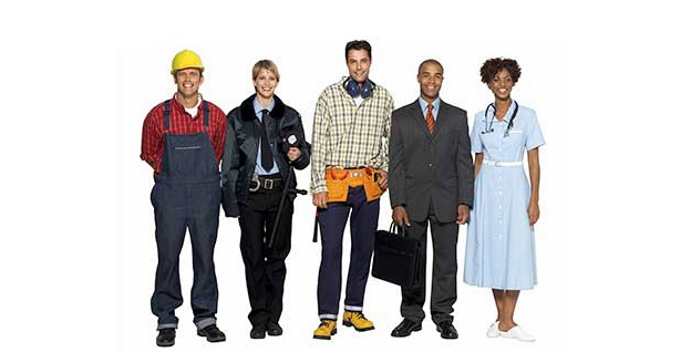 group of different workers