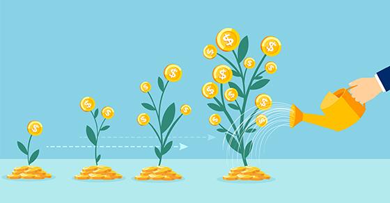 Watering growing money trees
