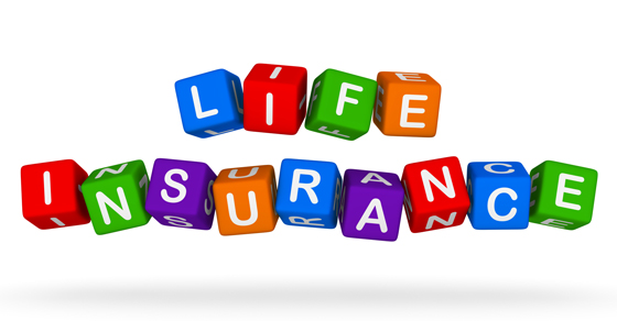 Blocks spelling Life Insurance